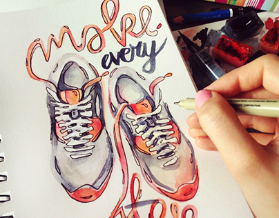 Make every step count - illustration.