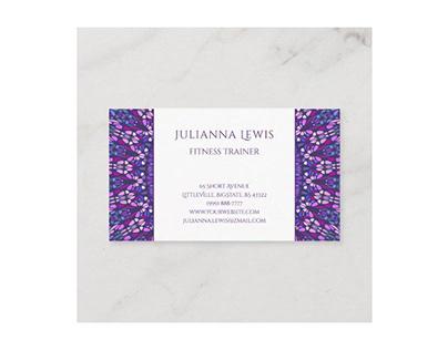 Purple Colorful Gravel Mandala Business Card