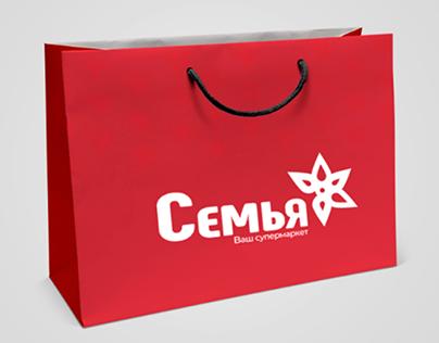 Один из вариантов лого для сети супермаркетов