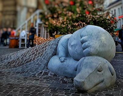 Sculpture Nello & Patrasche: A Story of Friendship