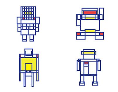 MondrianBots - Design