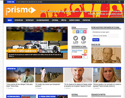 Website Diario el Prisma 2014