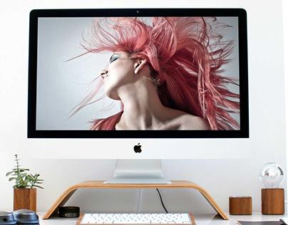 Free iMac Mockup PSD On a Beautiful Desk Vol 2