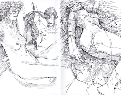Pencils, Inks and some Nudes