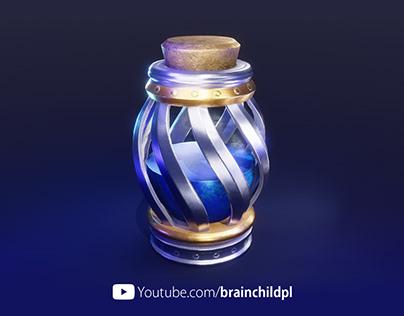 [VIDEO] 3d Potion Model & Render - Blender to Substance