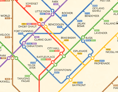 Retro Singapore MRT