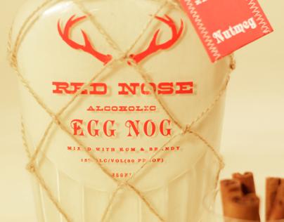 Red Nose Alcoholic Egg Nog