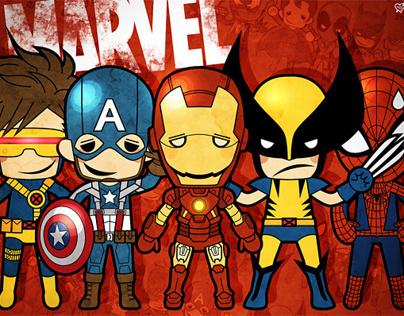 MARVEL DC character design