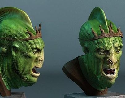 Creature Bust / 3D