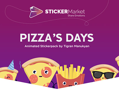 Pizza's Days-Animated Stickerpack