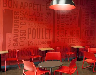 Rôtisseries Au Coq |Architecture | lg2boutique