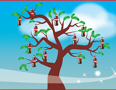 Coca Cola ad for plant based bottles