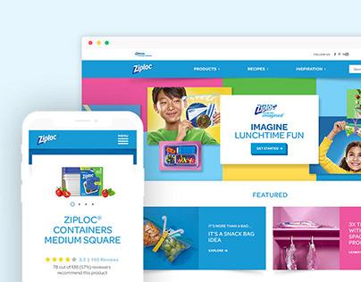 Ziploc.com Redesign