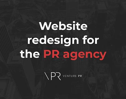 Website redesign for a PR agency