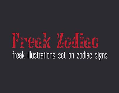 Freak Zodiac Illustration