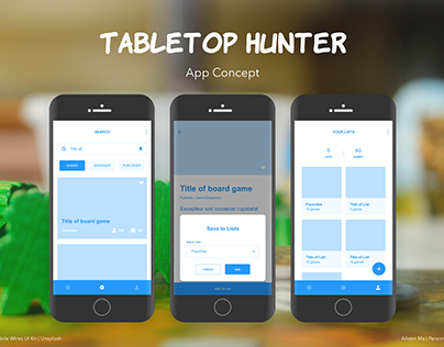 Tabletop Hunter App Concept | Early 2019