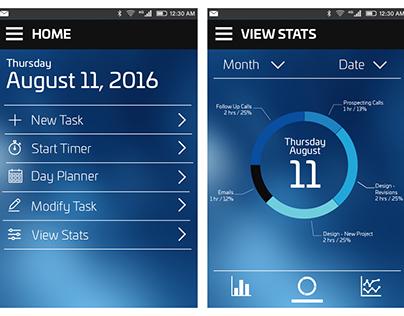 UI Design; Daily Task Tracker App