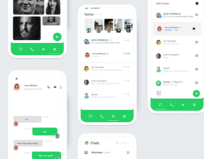 Free WhatsApp Redesign UI Kit Concept