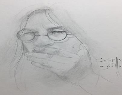 Self portrait oil color on canvas on Behance