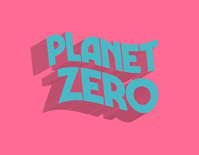 PLANET ZERO logo & poster