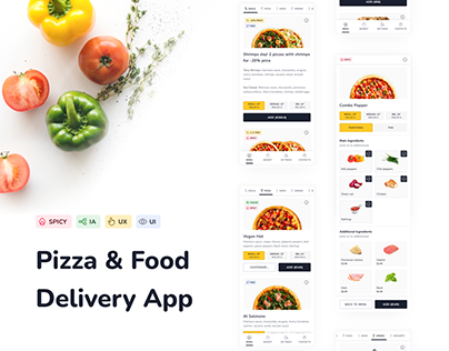 Pizza And Food Delivery App Design