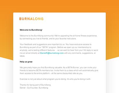 Burnalong Email Template