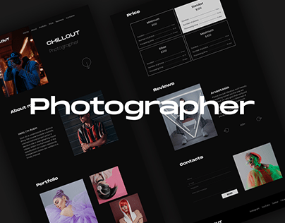 Business card site for a photographer