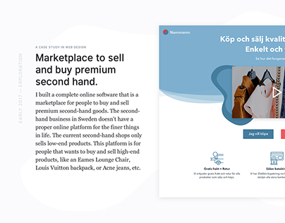 Web platform for premium second hand.