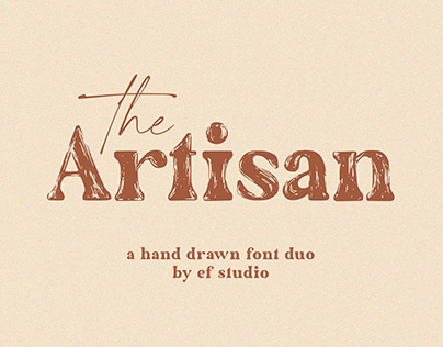 The Artisan   A Hand Drawn Font Duo