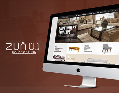 Zunuj Furniture (Website Concept Design)