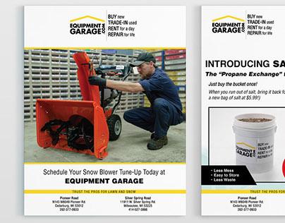 Flyer Designs: Equipment Garage