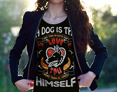 Dog Love T-Shirt Design