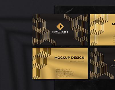 Luxurious Premium Business Card Mockup