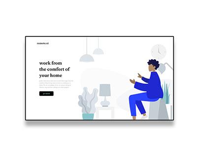 Website header designed with Adobe XD