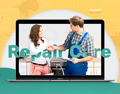 Web design for site of the company Repair Care