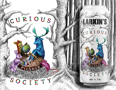 Curious Society: Beer Label Illustration and Design