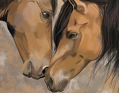 """Horses"" by Masha Van for Intalence Art"