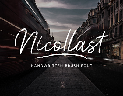 FREE // Nicollast Handwritten Brush Font