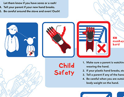 e-NABLE 3D printed hand safety instructions
