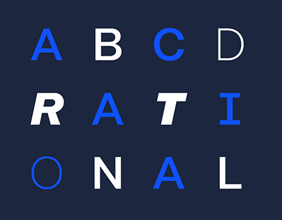 Rational / Font Family