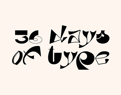 36 Days of type / 2020 / free typeface