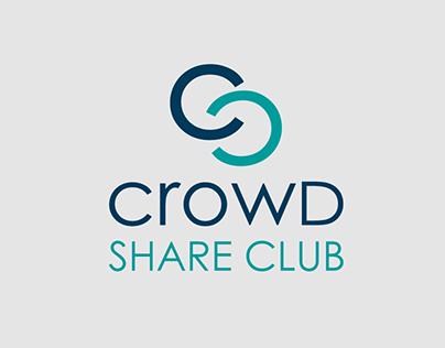 Crowd Share Club logo and web design.