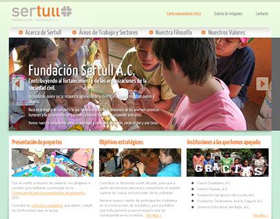 Fundacion Sertull Website
