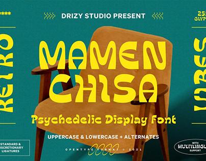 Mamenchisa - Psychedelic Display Font