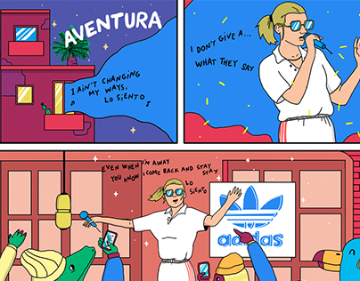 Aventura | A comic for Yorokobu + Adidas Originals