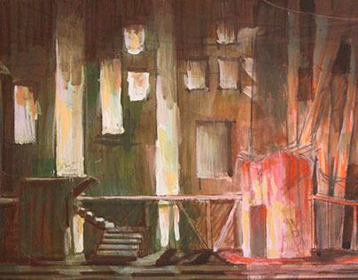 Al Namous Bridge Set design (Theater)
