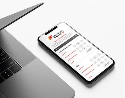 NaF Budgeting Tool Website UI Design