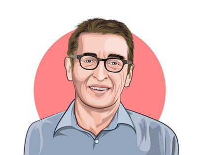 Cartoon portraits for a company team