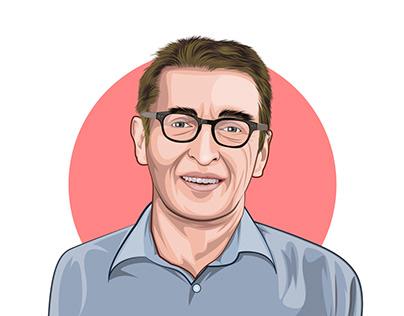 Cartoon portraits for a company team