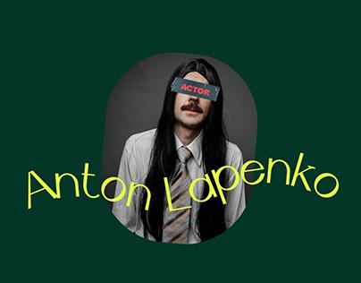 Anton Lapenko - Longread for theater and film actor.